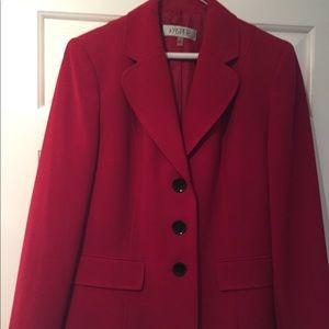Kasper red blazer size 12